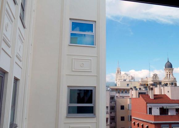 reforma de una fachada en madrid