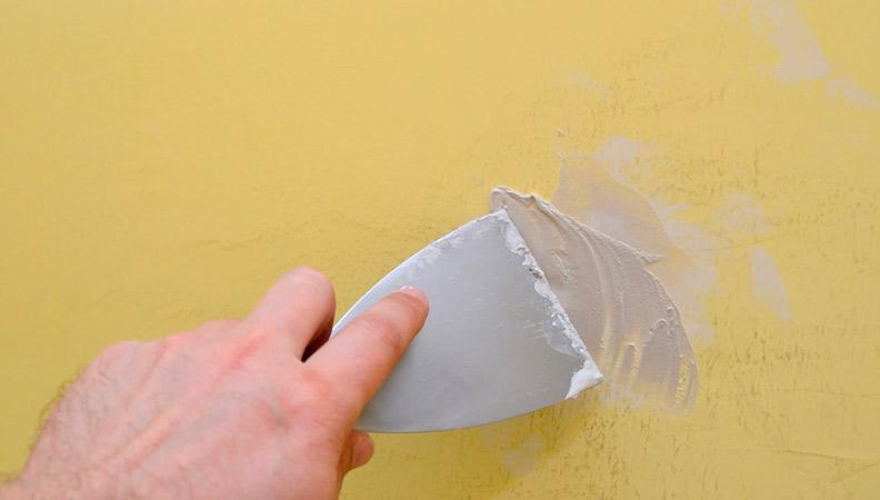 arreglar grietas en la pared